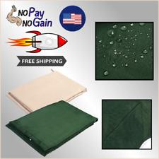 """New 77""""x43"""" Outdoor Swing Top Canopy Cover Green / Beige Waterproof"""