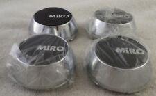 Miro Wheels Chrome / Black Custom Wheel Center Cap Caps Set 4 # MG-P1122