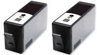 2 364 XL Black INK CARTRIDGES For HP PHOTOSMART  B110  B210 C309 5510 5515 6510