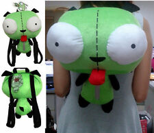 Alien Invader Zim Gir animal Robot Dog Plush toy kid Bag 1-X Backpack green soft