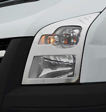 CHROME HEADLAMP HEAD LIGHT SURROUND TRIM COVERS SET S.STEEL FOR FORD TRANSIT