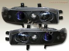 1990-1993 Honda Accord Projector Headlights Black NEW