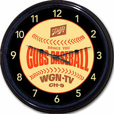Chicago Cubs Wrigley Schlitz Beer Coaster Wall Clock Baseball Man Cave New 10""