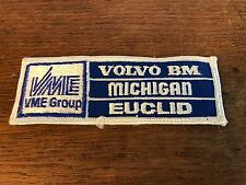 "VME Group Volvo BM Michigan Euclid Embroidered Sew on Patch 1.75"" X 3.75"""