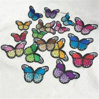 10stk Aufnäher Bügelbild Applikation Flicken-Schmetterling Bügelbilder DIY U3H1
