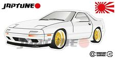 Mazda-RX-7-series-4   - White with Gold Rims - JDM - JapTune Brand