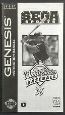 World Series Baseball 96 Sega Genesis Instruction Manual Only