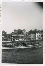 PHOTO ANCIENNE - VINTAGE SNAPSHOT - VEDETTE BATEAU - BOAT 1930