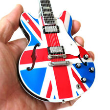 Noel Gallagher OASIS Super Nova Semi Hollow Miniature Guitar Union Jack