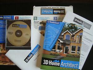 BRODERBUND 3D HOME ARCHITECT DELUXE VERSION 3.0 SOFTWARE MANUAL HOME DESIGN VTG