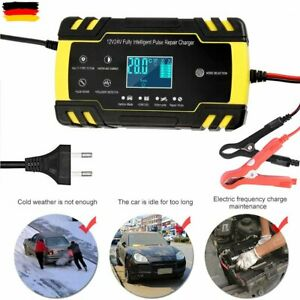 Intelligente KFZ Auto Batterie Akku Ladegerät 150AH Impuls Reparatur 12/24V