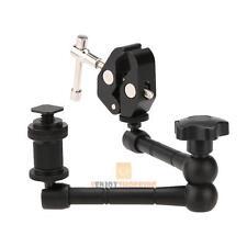 "11"" Inch Articulating Magic Arm + Super Clamp Crab Plier Clip for DSLR Camera"