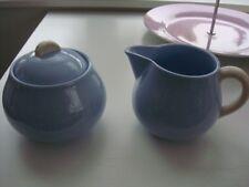Villeroy & Boch pastell Zuckerdose- und Milchkanne hellblau 50-er