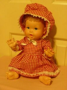 Rub-A-Dub Baby Doll - 1973 Ideal; dressed in homemade clothing; played with