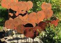 EDELROST Herz Stecker 80cm groß Rost Gartendeko Metall Stele Kunst Edel Deko NEU