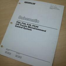 Caterpillar F25 F30 F35 Fc40 Microcommand System Forklift Schematic Manual Cat