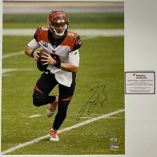 Autographed/Signed JOE BURROW Cincinnati Bengals 16x20 Photo Fanatics COA Auto