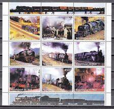 Mali, 1998 Cinderella issue. Locomotives sheet of 9. *