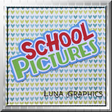 SCHOOL PICTURES TITLE Embellishments Card toppers Paper Piecing scrapbooking