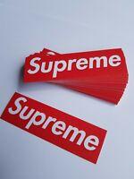 100 RED SUPREME STICKERS