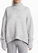 Eileen Fisher Light Gray Turtle Neck Sweater , Cotton Wool Blend . Bnwt. Medium