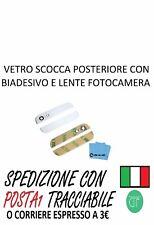 VETRO SCOCCA POSTERIORE COMPATIBILE PER IPHONE 5 CON BIADESIVO 3M (BIANCO)