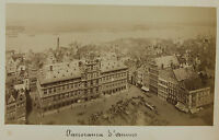 Panorama Anversa Antwerpen Belgio Vintage Albumina Ca 1880