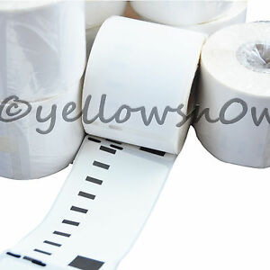 5 x 11356 DYMO Compatible Removable Labels 89mm x 41mm (300 Per Roll) S0722560