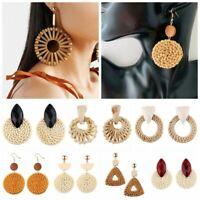 Jewelry Boho Women Simple Geometric Circle Earrings Ear Stud Drop Dangle Fashion