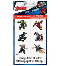 Marvel Avengers Temporary Tattoo - 4 sheets, 24 tattoos