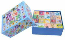 Wooden 40 Piece Blocks Building Bricks Kids Educational Toy Letters Shape Gift