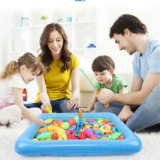 18pcs Kids Children Magnetic Fish Bath Toy Game Rod Fishing Toddler Toy Set Gift