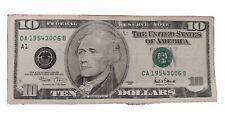 Federal Reserve Bill US 10 Dollar Note CA 19543006B