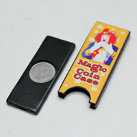Magician's Coin Slide Plus Gimmick For Coin Vanishing & Production Magic Trick