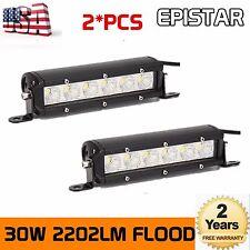 2X7inch 30w LED Work Light Bar 12V 24V Flood Offroad Tractor ATV 4WD Fog Epistar