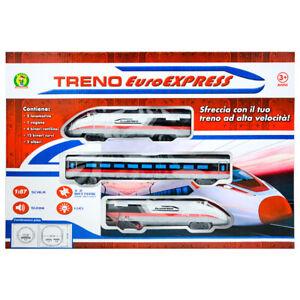 Pista treno con vagoni binari luci e suoni giocattolo per bambini scala 1:87 3+