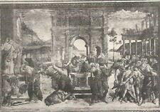 A7963 Sandro Botticelli - Castigo Divino - Stampa Antica del 1924