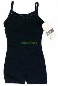 New NWT Girls Gymnastic Clothes Dance Freestyle Unitard Black Size XS 4 5 4-5