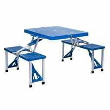 Table Pique Nique Pliante Portable Avec Siège Vacances Camping Randonnée Jardin