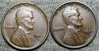 1911-D 1925-D Lincoln Cent Wheat Penny -- Nice Details Lot - #J748