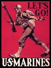 PROPAGANDA WAR WWII USA US MARINES SOLDIER GUN FINE ART PRINT POSTER BB8368B