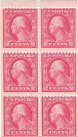 Scott# 499e -  2c Rose - Washington - perf 11 booklet pane of 6 - MNH