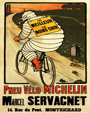 MICHELIN TIRES SMOKING CIGAR RIDING BICYCLE 8X10 VINT POSTER REPRO FREE SHIPPING