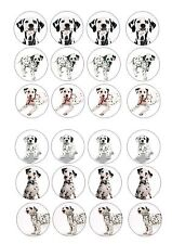 24 icing cupcake cake toppers edible ND1 Mixed dog dalmatians puppy