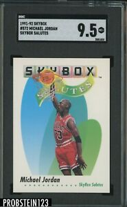 1991-92 Skybox Salutes #572 Michael Jordan Chicago Bulls HOF SGC 9.5 MINT+