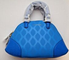 NEW Vera Bradley Mini Angled Bowler Ikat Diamonds Blue Handbag Bag Crossbody