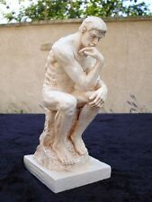 Le penseur de Rodin finition pierre reproduction