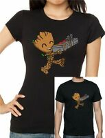 GUARDIANS Of The GALAXY Inspired CUTE GROOT T-Shirt. Unisex or Women's Fitted