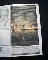Best TROY Brad Pitt Film Movie Opening Day AD Review 2004 Los Angeles Newspaper