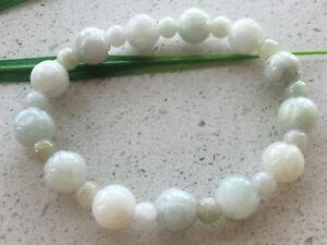 Certified Natural A Grade 10mm Jadeite Carving Lotus beads Women Bracelet 0782
